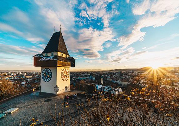 Bild: Uhrturm in Graz